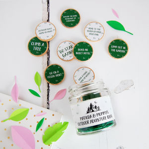 Personalised Mummy's Outdoor Adventure Ideas Jar - decorative accessories