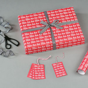 Ho Ho Ho Christmas Wrapping Paper - christmas wrapping paper