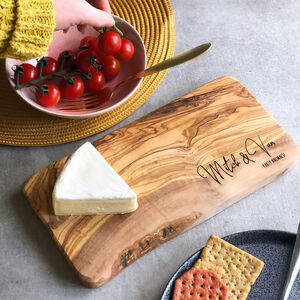 Personalised Wooden Olive Board