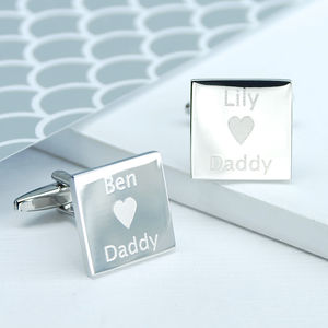 Personalised I Love Daddy Cufflinks