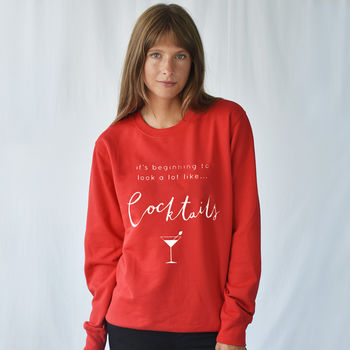 'Looks Like Cocktails' Christmas Jumper Sweatshirt
