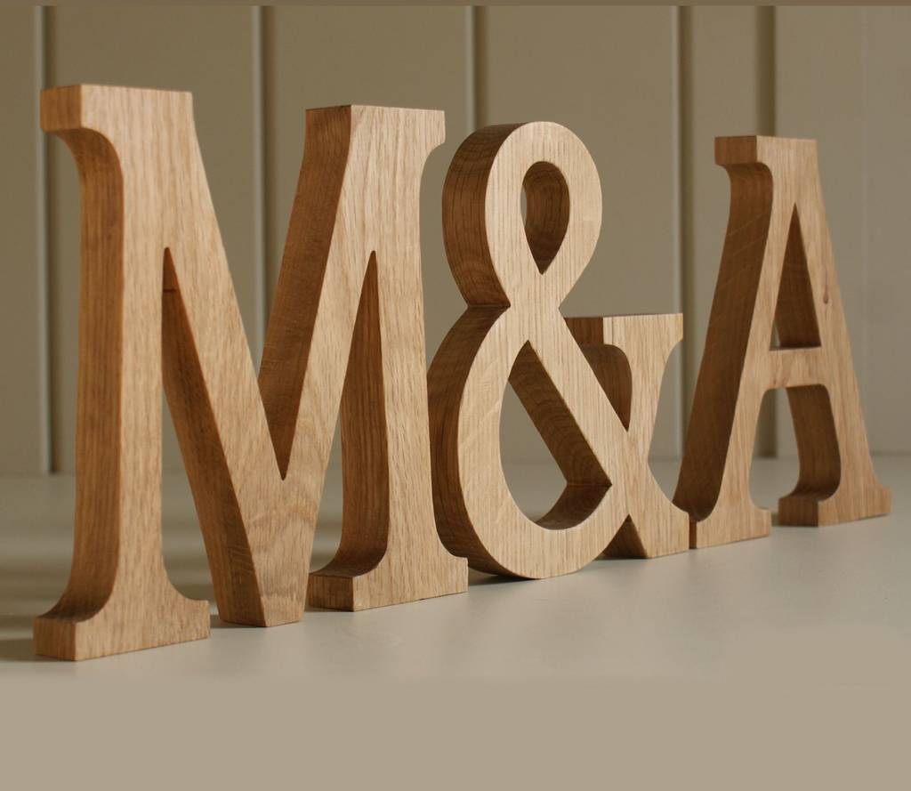 wooden letters traditional oak by letters etc. Black Bedroom Furniture Sets. Home Design Ideas