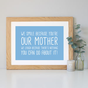 'My/Our Mother' Gift Quote Print - family & home