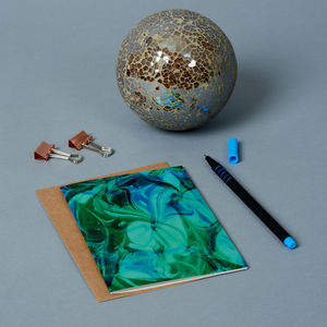 Green Marble Greeting Card