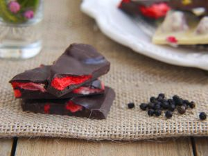 Berry Peppery Chocolate Shards