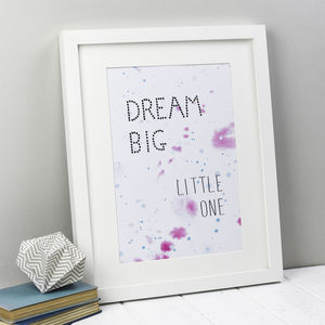 'Dream Big Little One' Print - posters & prints