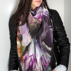 Dark Paradise Luxury Cashmere Ladies Scarf - womens