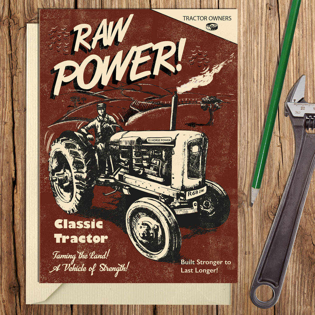 Vintage Style Tractor Card