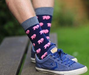 Pink Elephants Socks