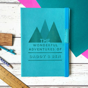 'Adventures With Dad' Personalised Notebook - dadventures