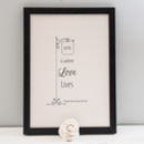 Personalised Home A4 Print