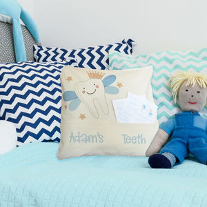 Personalised Child's Tooth Fairy Cushion - decorative accessories