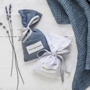 Parisian Blue Linen Lavender Bag