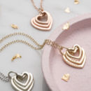 Personalised 9ct Gold Family Names Heart Necklace