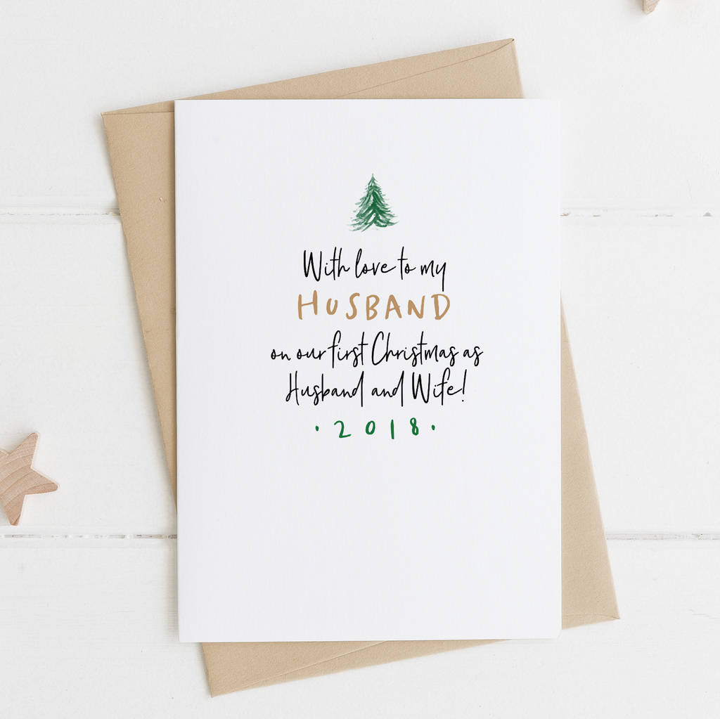 Husband Christmas Cards.First Married Christmas Card