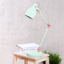Mint Green Task Lamp