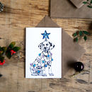 Dalmatian With Star Christmas Greetings Card