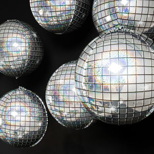 Inflated Trio Of Disco Balls Foil Balloon Bunch - decoration
