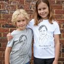 David Attenborough Kids T Shirt Organic Cotton