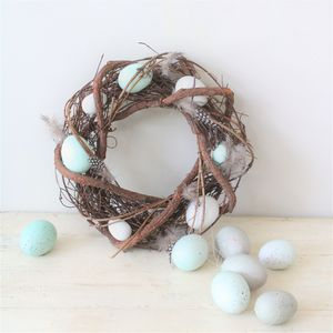 Blue Speckled Egg Spring Wreath