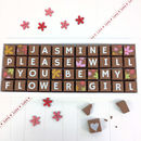 Personalised Please Be My Flower Girl Chocolate Gift