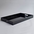 Lacquer Breakfast and Ottoman Tray, Shiny Black