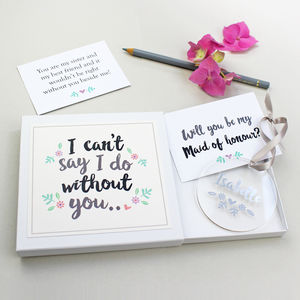 'Will You Be My Maid Of Honour?' Keepsake Gift - decorative accessories