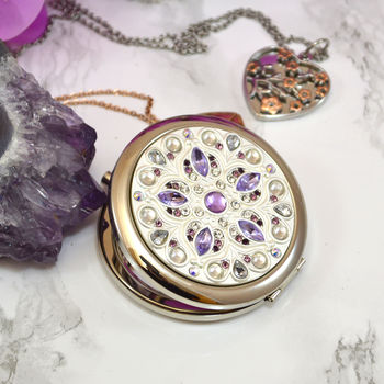 Engraved Compact Mirror Splendour Design