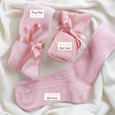 Cosy Christmas Bed Socks In Personalised Gift Box