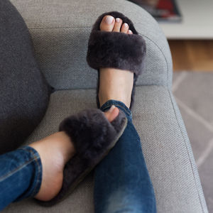 Sheepskin Spa Slippers - women's fashion