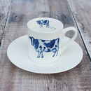 'Cow' Espresso Cup And Saucer