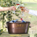 Sparkling Moments Copper Plated Champagne Bucket