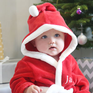 Personalised Red Santa Robe - gifts for babies & children