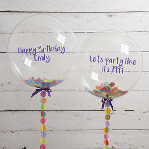 Personalised Birthday Confetti Filled Balloon - adults birthday