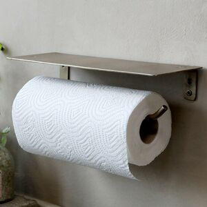 Brass Kitchen Roll Holder With Shelf