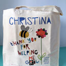 Personalised Thank You For Helping Me Grow Teacher Bag