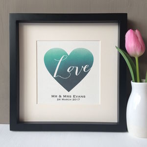 Personalised Heart Wedding Print