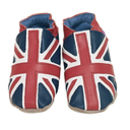 Boys And Girls Soft Leather Baby Shoes Union Jack