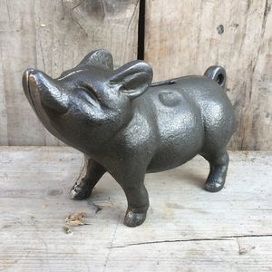 Cast Iron British Made Piggy Bank