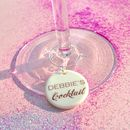 Personalised Cocktail Glass Charm