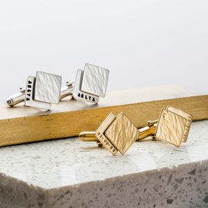 Personalised Double Cube Cufflinks - gifts for him