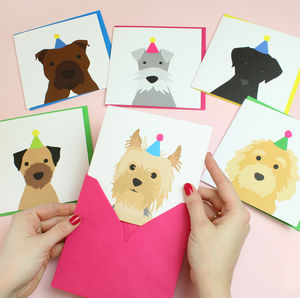 Birthday Dog Card Multiple Breed Options