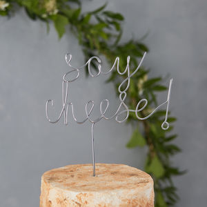 Say Cheese Cake Topper - new lines added