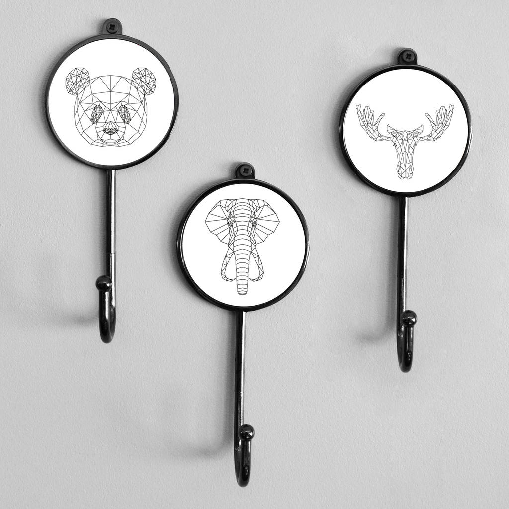Geometric Animal Wall Bedroom Coat Hooks