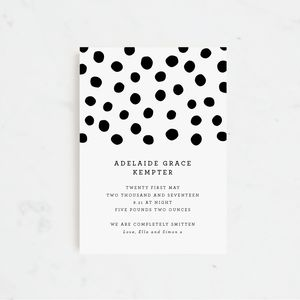 Polka Dots Birth Announcement And Thank You Cards - new baby cards
