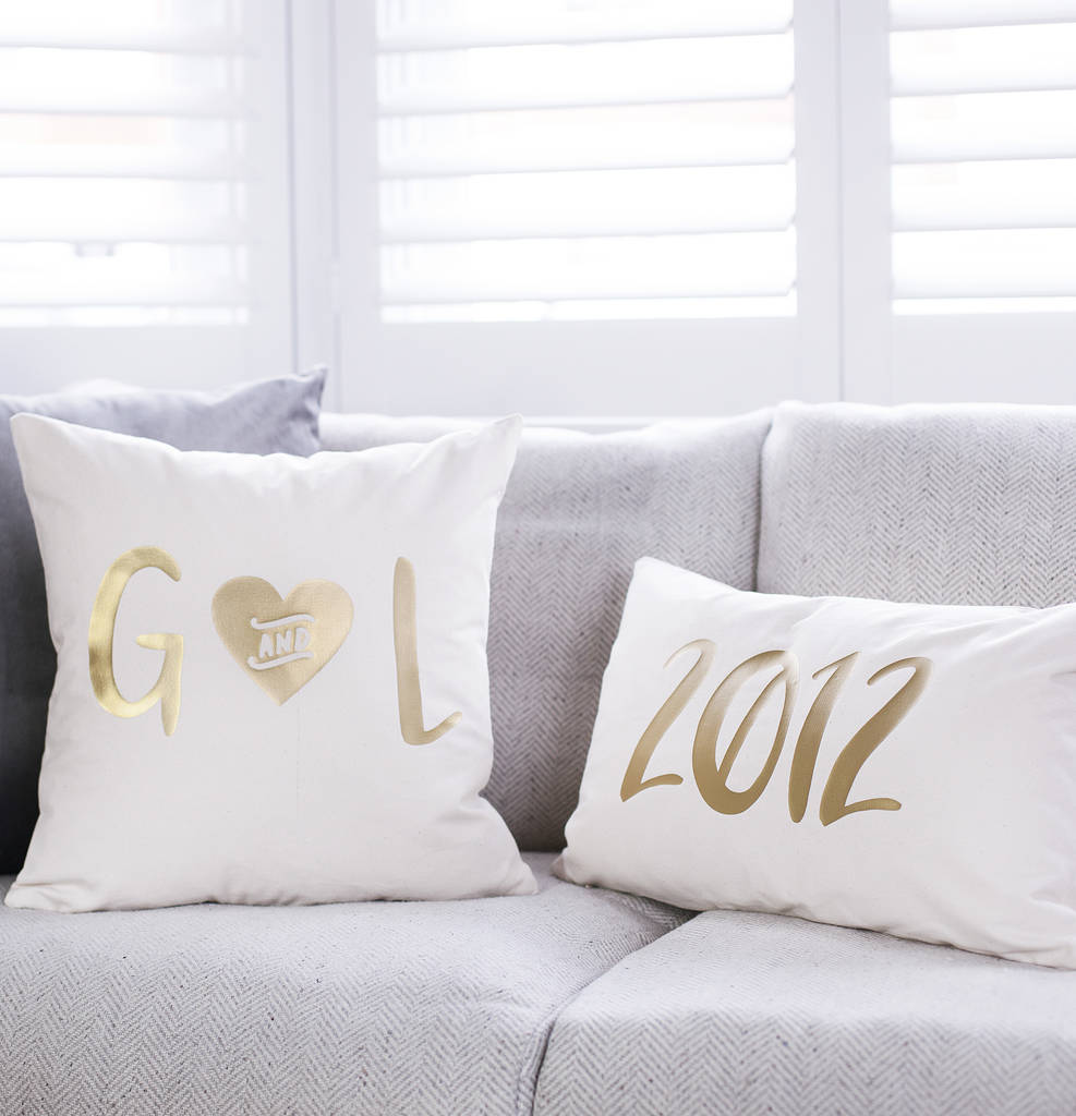 Personalised Wedding Date Cushion Set
