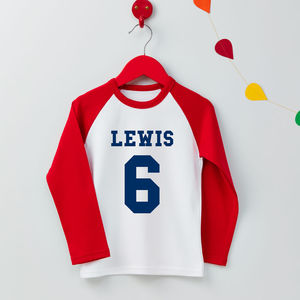 Boys Personalised Age T Shirt