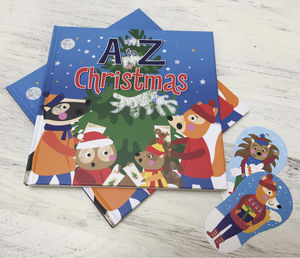 A To Z Of Christmas Hardback Book And Decorations - new in baby & child