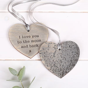 I Love You To The Moon Hanging Keepsake - finishing touches
