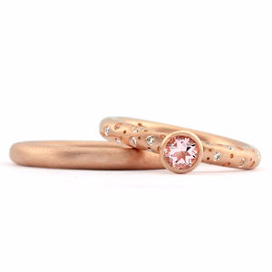 Morganite And Rose Gold Diamond Ring - engagement rings